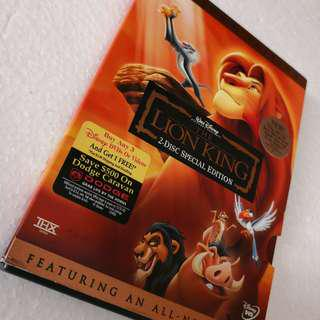 The Lion King Platinum Edition 2 DVD THX