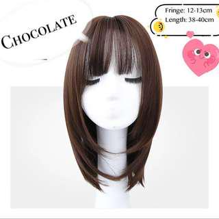[IN STOCK] Shoulder Length Synthetic Wig (Multiple colours) | Full wig cosplay short hair loss