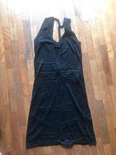 Armani Exchange AX little black dress bareback