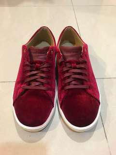 COLE HAAN GRAND CROSSROAD II MAROON RED VELVET SNEAKERS