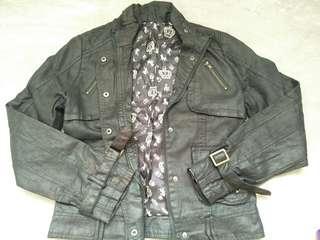 leatherette jacket