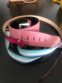Leather belts pink Charles & Keith and Benetton