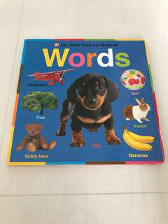 Preloved My Giant Fold-out Book of Words