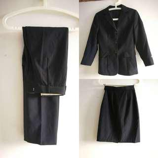 🚚 Woman formal wear Suit jacket with skirt and pants