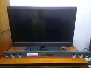 LG32寸smart TV 連LG wirless sound bar
