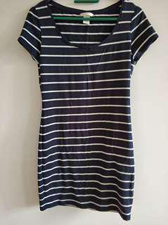H&M Striped dress in navy