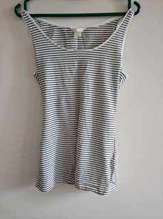 H&M striped sleeveless