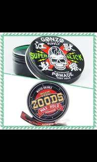 Cash On Delivery 📦 [Combo Pomades-Gonzo Super Slick Pomade+The Zoods Max Hold Pomade]