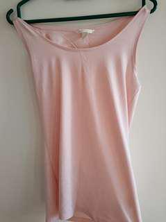 H&M pastel pink sleeveless