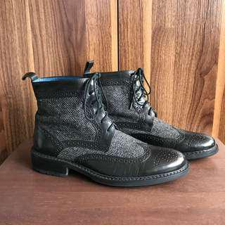 Mr. Collection Black Casual Leather Boots