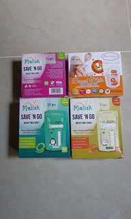 4 Boxes of Breastmilk Storage Bags