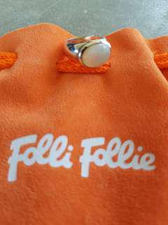 Brand New Authentic Folli Follie 925 Silver Pearl Ring. Ring Size 7 (17.3mm)
