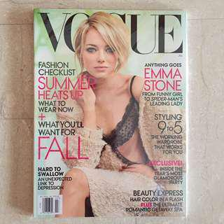 2 x Vogue Magazine July 2012- Emma Stone by Mario Testino *Mint Condition*