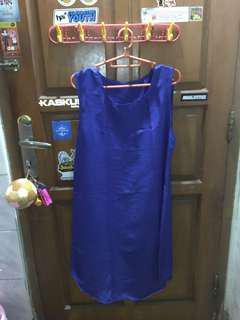 Blue Dress Satin