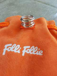 Brand New Authentic Folli Follie 925 Silver Ring. Ring Size 7.5 (17.7mm)