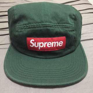 🚚 SUPREME 5 PANEL CHINO CAMP CAP 墨綠 軍綠 帆布 五分割帽 老帽  6 panel