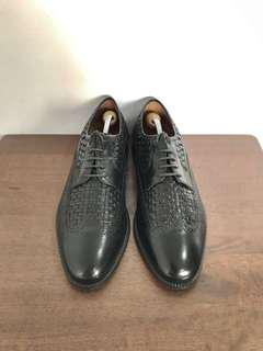 Apollo Black Formal Leather Shoes Braided Oxfords