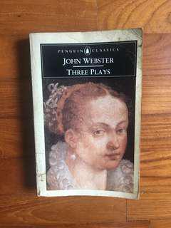 John Webster - Three Plays (Penguin Classics, 1995)