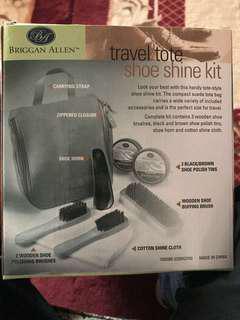 Shoe shining kit travel set