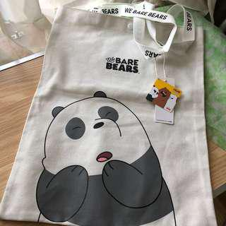 Hand Carry! Thailand We Bare Bears Tote Bag