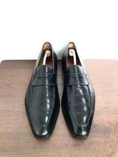 Crockett & Jones Split toe Penny Loafers Black Formal Leather Shoes