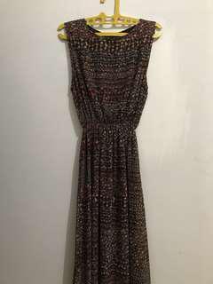 #MauiPhoneX dress panjang coklat
