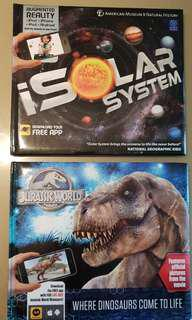 Jurassic World and Isolar System AR Carlton Books
