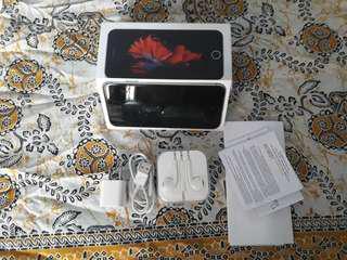 NEGO JUAL IPHONE 6S 16GB PEMAKAIAN BARU 1 MINGGU, NO MINUS, FULLSET, SEMUA AKTIF