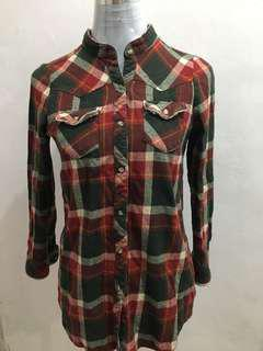 Plaid Polo Longsleeves