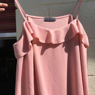 Soft pink shoulder top from Mirrou