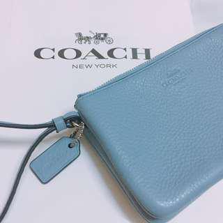 🚚 Coach雙拉鍊手拿包