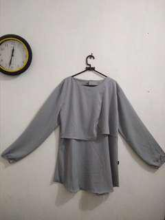 #MauiPhoneX baju abu-abu altara