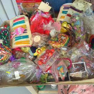 Lot of hair accessories for craft, girls, adults