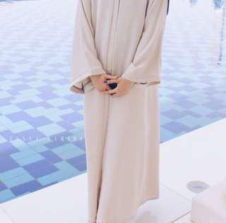 Nude Abaya Jubah