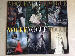 Bundle of Archived Vogue Italia Supplements (2011-14), Couture, Alta Moda, F/W Fashion Shows