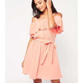 (3 for RM150) Miss Selfridge Cold Shoulder Ruffle Dress