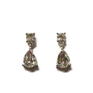 (Free pos) Lovisa Silver Colour Diamond Dangle Fashion Wedding Dinner Earrings