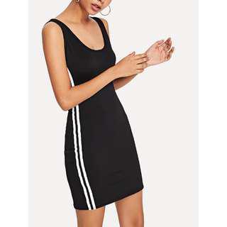 Striped Side Tank Dress