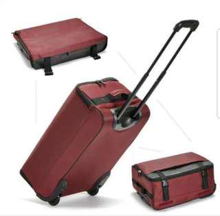 Foldable suitcase trolley