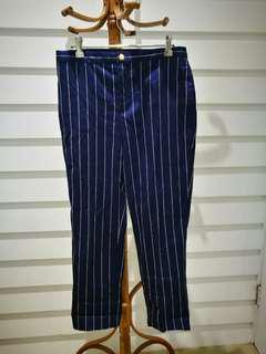Genuine Ralph Lauren Pinstripe Indigo Blue Pant Petite