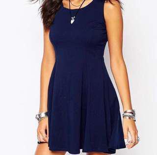 Dark Blue Skater Dress (New)