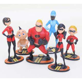 New the incredibles 2 super heroes cake topper decorations figurine birthday decorations cake toy figurines