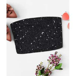 Moon And Stars Bandeau Top