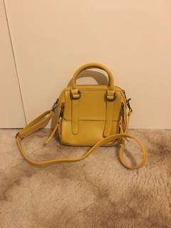 Yellow mini handbag