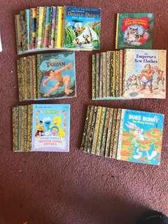 Antia Little Golden Book 43 Book set 7 are Sesame Street 17 are Walt Disney rest are other GB books