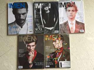 Early Prints of Style: Men magazines (2011-2012) *BNIB!
