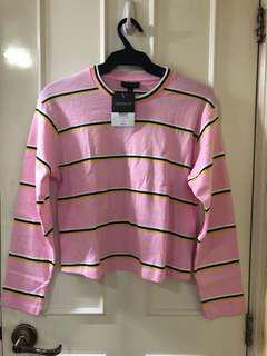 Topshop Pink Long Sleeves Top