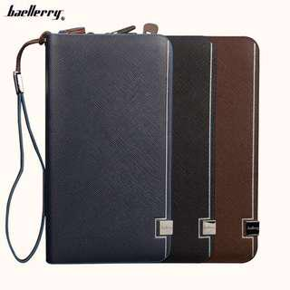 🚚 Men's Genuine Leather Long Wallet With Coin Storage