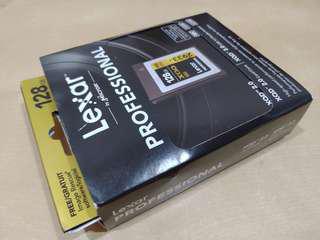 Original Lexar Professional XQD 128 GB bundle with Card Reader ( Twin Pack )