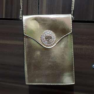 Golden bag for parties, proms etc